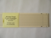 Series of 100 blank cardboard-strips for 33-notes mechanisms