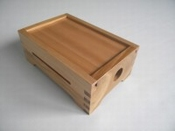 Empty wooden box for carboard-strip mechanisms