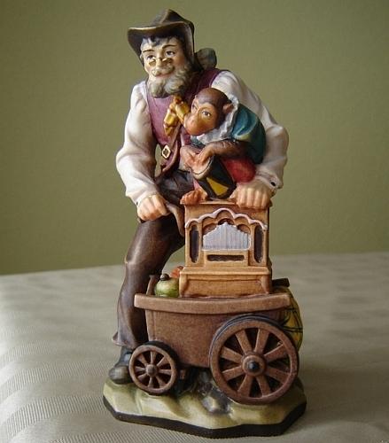 Sculpture Joueur d'orgue